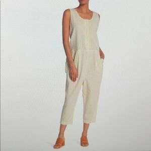 🆕EILEEN FISHER Organic Cotton Jumpsuit Size XS